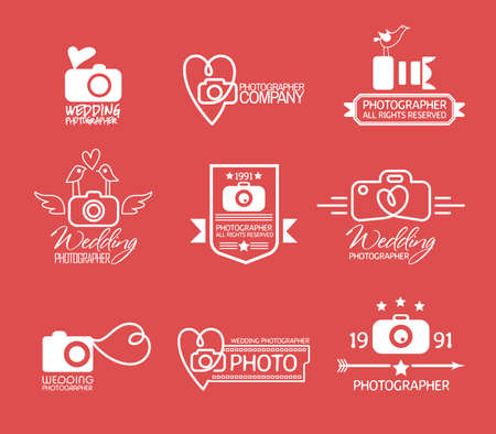 photography: Photography Badges and Labels in Vintage Style