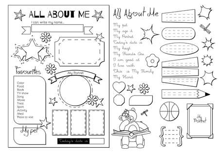 printable: Back to School. All About Me questionnaire. Printable