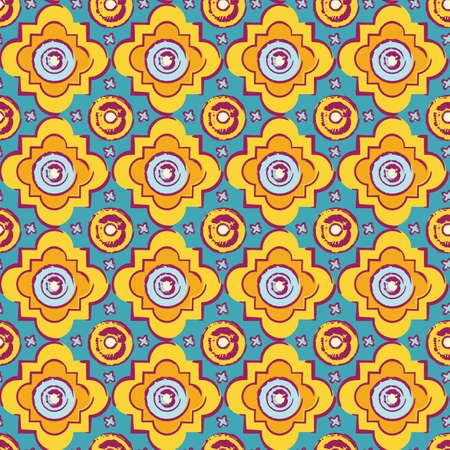 byzantine: Seamless byzantine style hand drawn, vintage pattern Illustration