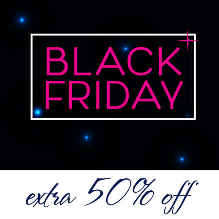 Black Friday Sale Poster Banner. Typography vector template Retro style. Vintage design . 向量圖像