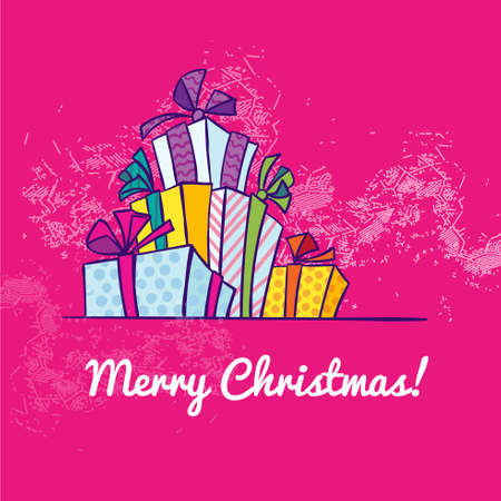 holiday background: Holiday Christmas background with gift boxes. Vector.