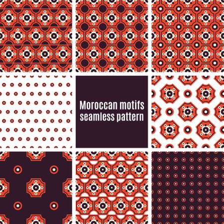 seamlessly: Arab tiles seamlessly retro patterns - set of eight designs