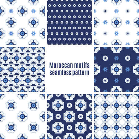 ceramica: Set the Portuguese azulejo tiles. Seamless patterns. For scrapbooking, wallpaper, cases for smartphones, web design, print.