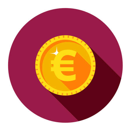 coins: Vector gold coin. Euro. The flat style.
