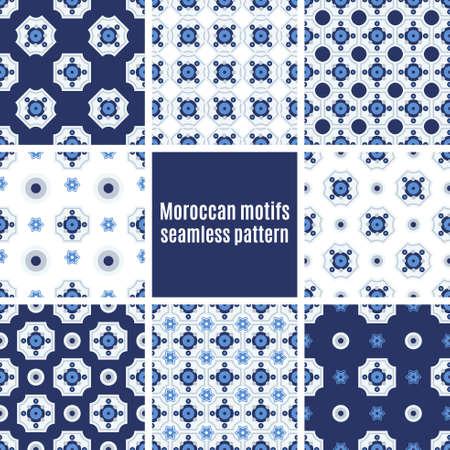 Set the Portuguese azulejo tiles. Seamless patterns. For scrapbooking, wallpaper, cases for smartphones, web design, print.