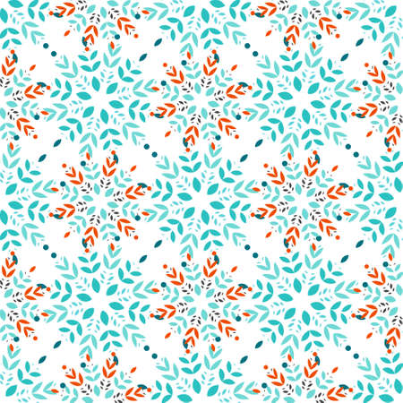 ice surface: Snowflakes seamless pattern vector background for skrapbooking