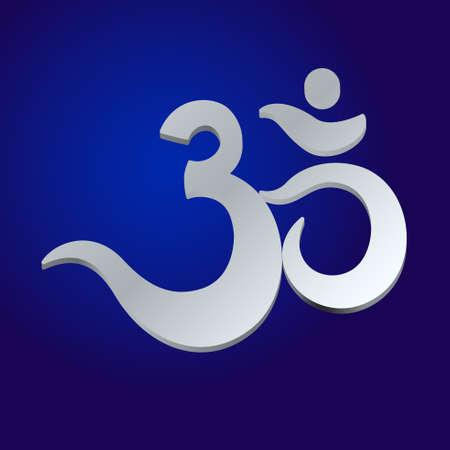 triad: Om or Aum Indian sacred sound, original mantra, a word of power. The symbol of the divine triad of Brahma, Vishnu and Shiva. The rich round mandala. For prints, textiles, mehendi.