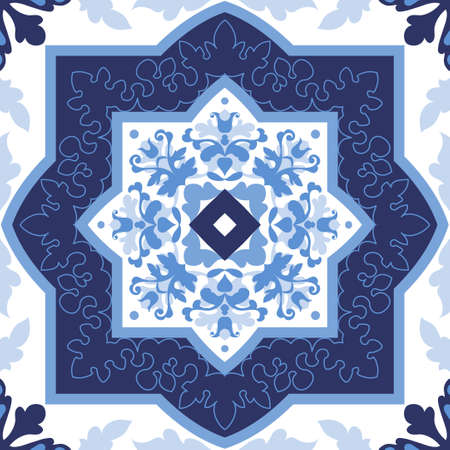 tiles floor: Portuguese azulejo tiles. Blue and white gorgeous seamless patterns. For scrapbooking, wallpaper, cases for smartphones, web background, print, surface textures.