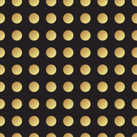 rood: Universal vector black and gold seamless pattern, tiling. Polka dot geometric ornaments. Texture for scrapbooking, wrapping paper, textiles, home decor, surface design, fashion.