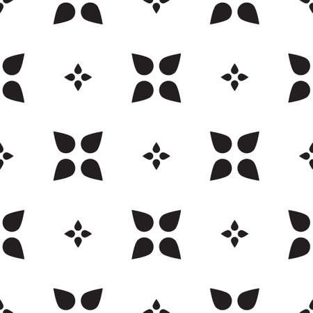 rood: Universal vector black and white seamless pattern (tiling). Monochrome geometric ornaments. Texture for scrapbooking, wrapping paper, textiles, home decor, skins smartphones backgrounds cards, website, web page, textile wallpapers, surface design, fashion