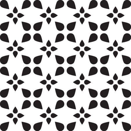 bosom: Universal vector black and white seamless pattern (tiling). Monochrome geometric ornaments. Texture for scrapbooking, wrapping paper, textiles, home decor, skins smartphones backgrounds cards, website, web page, textile wallpapers, surface design, fashion