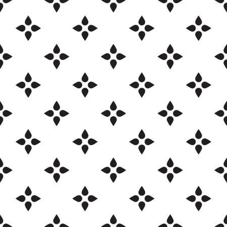 Universal vector zwart en wit naadloze patroon (tegels). Zwart-wit geometrische ornamenten. Textuur voor scrapbooking, inpakpapier, textiel, woondecoratie, huiden smartphones achtergronden kaarten, website, webpagina, textiel wallpapers, surface design, mode