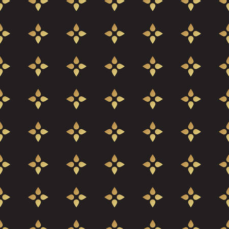 dot surface: Universal vector black and gold seamless pattern, tiling. Polka dot geometric ornaments. Texture for scrapbooking, wrapping paper, textiles, home decor, surface design, fashion.