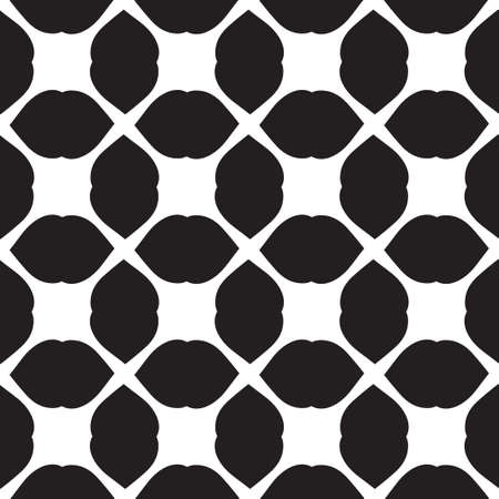 Universal vector black and white seamless pattern (tiling). Monochrome geometric ornaments. Texture for scrapbooking, wrapping paper, textiles, home decor, skins smartphones backgrounds cards, website, web page, textile wallpapers, surface design, fashion