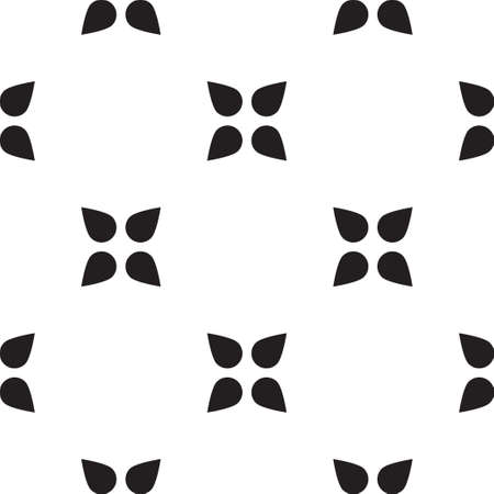 criss: Universal vector black and white seamless pattern (tiling). Monochrome geometric ornaments. Texture for scrapbooking, wrapping paper, textiles, home decor, skins smartphones backgrounds cards, website, web page, textile wallpapers, surface design, fashion