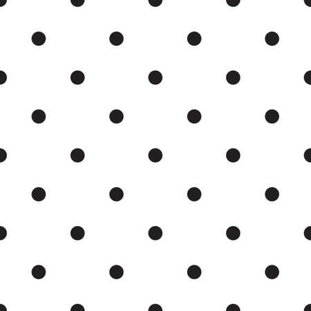 Vector seamless patterns with white and black peas (polka dot). Texture for scrapbooking, wrapping paper, textiles, home decor, skins smartphones backgrounds cards, website, web page, textile wallpapers, surface design, fashion, wallpaper, pattern fills.  イラスト・ベクター素材
