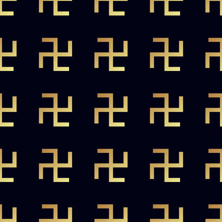 swastik: Swastika seamless pattern. Rotating cross, an ancient religious symbol of the sun, good luck, prosperity. Swastika symbol in Hinduism, Buddhism and Jainism