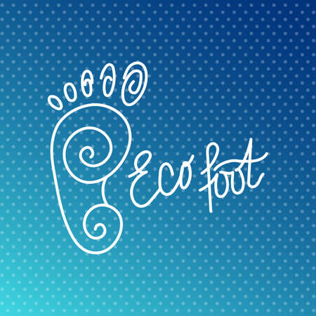 orthopedic: Eco foot. Health Center logo, orthopedic eco salon. Sign bare foot. Silhouette footprint. Vector illustration. Illustration