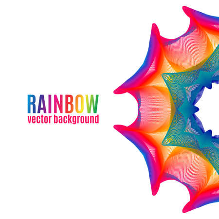 Rainbow Star vector background. Abstract colorful illustration for your business Illustration