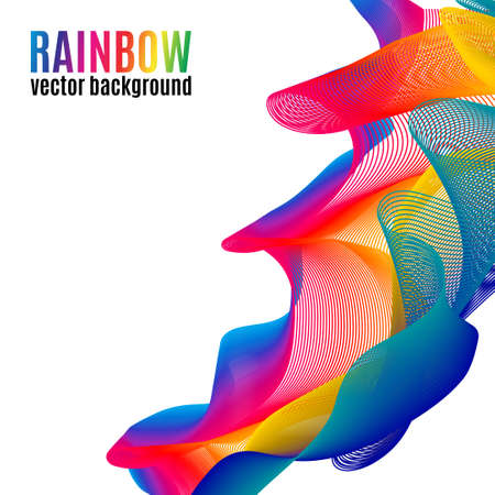 Rainbow Lines vector background. Abstract colorful illustration for your business Illustration