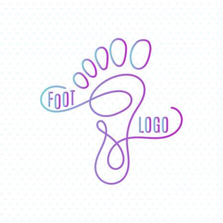 Logo du centre de santé des pieds. Human signe de l'empreinte icône. symbole Barefoot. silhouette de pied. Affaires ensemble abstrait logos. Vector illustration Logo