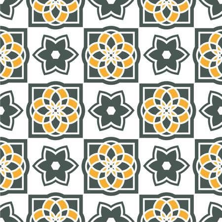 Portugiesische Azulejo Fliesen Aquarell Nahtlose Muster Lizenzfreie - Portugiesische fliesen azulejos