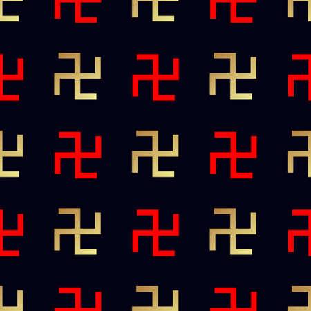 swastika: Swastika seamless pattern. Rotating cross Illustration