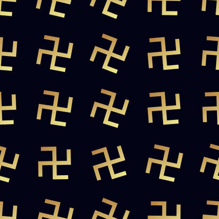 Swastika seamless pattern. Rotating cross Illustration