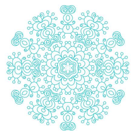 Round ornament vintage floral esoteric mandala. Illustration