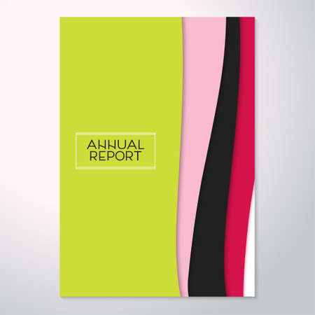Modern abstract flyer, annual report. Trend material design