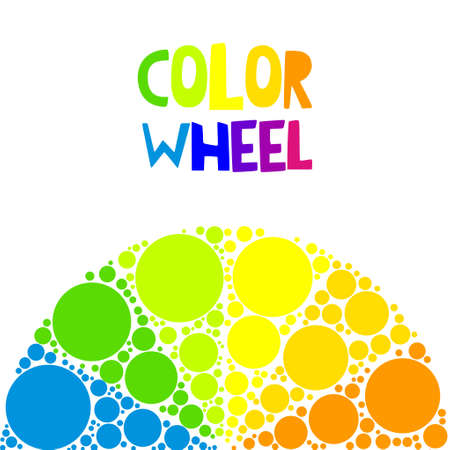 Color wheel or color circle on background