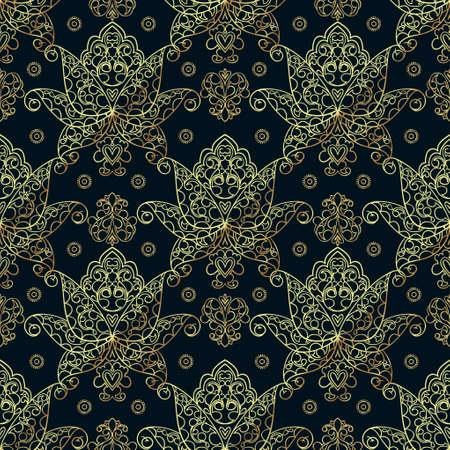 luxo: Testes padrões sem emenda de motivos russos de pintura do norte