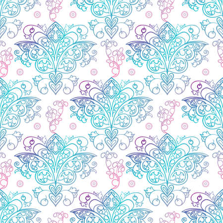 Seamless patterns Russian motives of northern painting