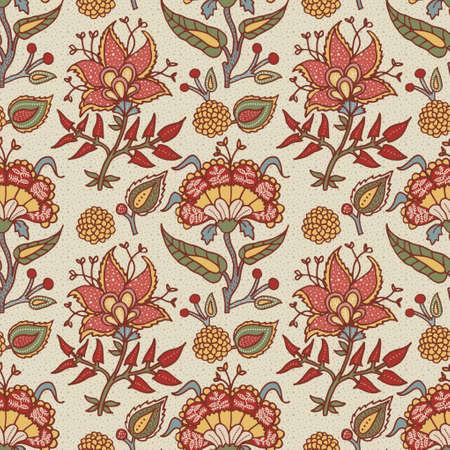Indyjski narodowy ornament paisley do tkanin bawełnianych i lnianych.