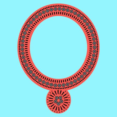 Geometric, tribal jewelry collar clothes. Neck line designs