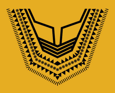 v neck: Geometric, tribal jewelry collar clothes. Neck line designs