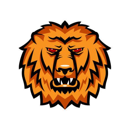 undomestic: Mascot the muzzle of a lion.