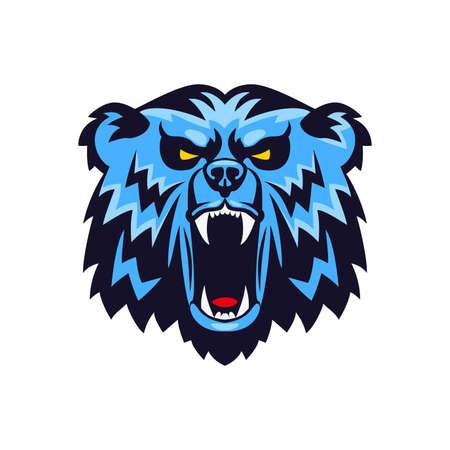 Bear Head Mascot Emblem