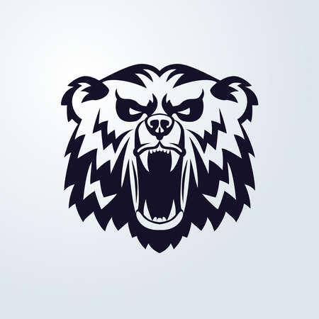 cruel zoo: Bear Head Logo Mascot Emblem