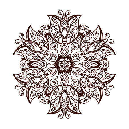Mandala banner, Indian style.
