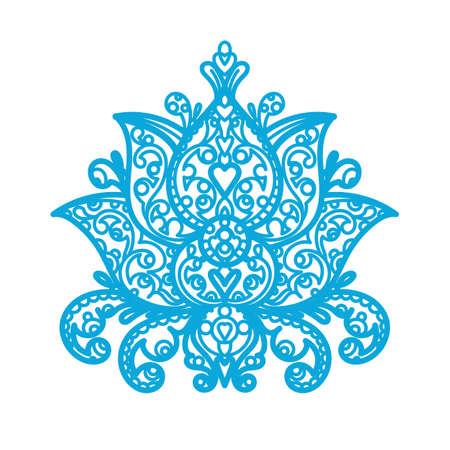 plywood: Lotus Ornament - wood laser cut Illustration