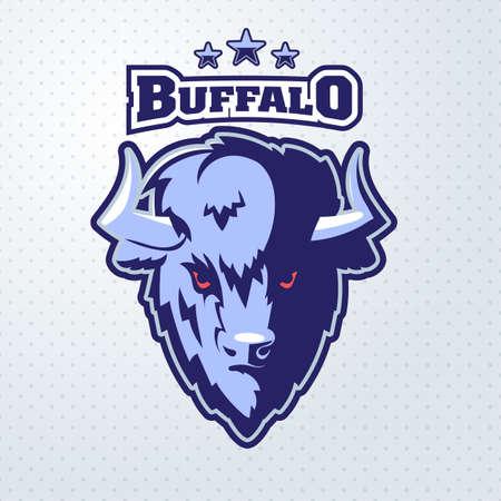 Buffalo Head Logo Mascot