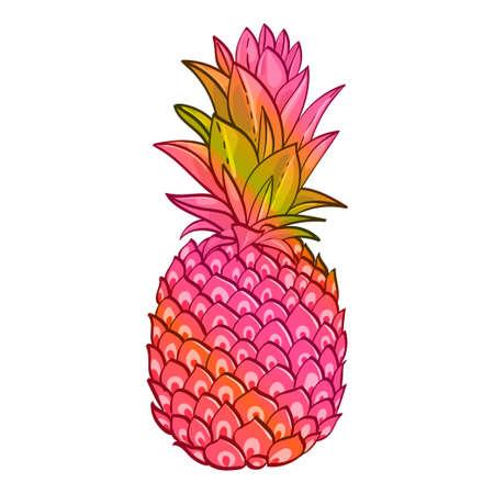 paradise beach: Pineapple creative trendy art poster.