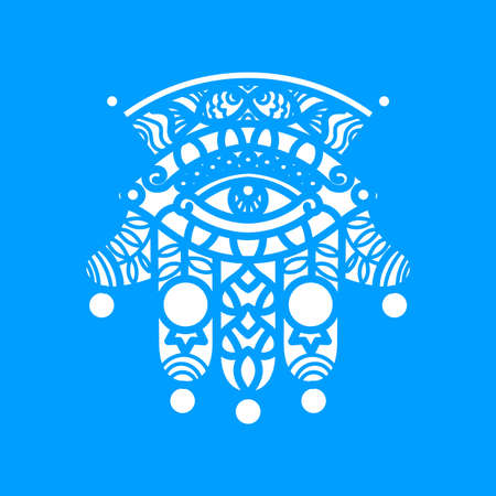 Vector Laser cutting template  Hamsa