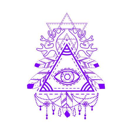 providence: All-seeing eye pyramid symbol.