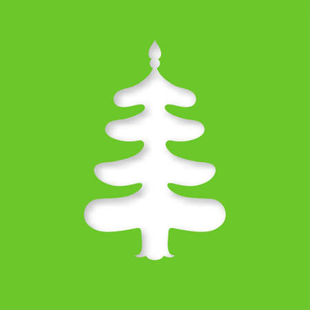 cutouts: Christmas tree. Laser cutting template