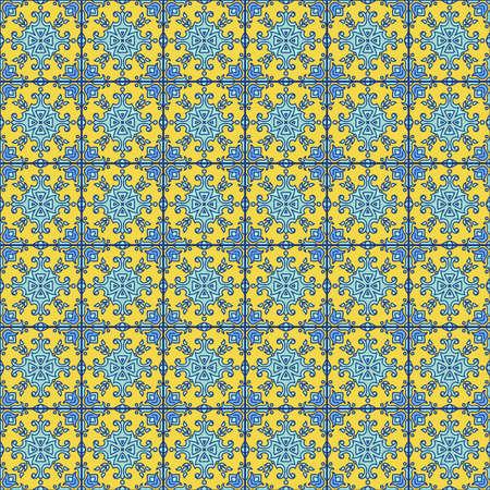 Portugiesisch Zu. Blaue und weiße herrlich nahtlose Muster. Standard-Bild - 73886771