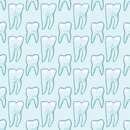 White teeth on blue background. Vector Texture for scrapbooking, wrapping paper, textiles, web page, wallpapers, surface design, fashion Illustration