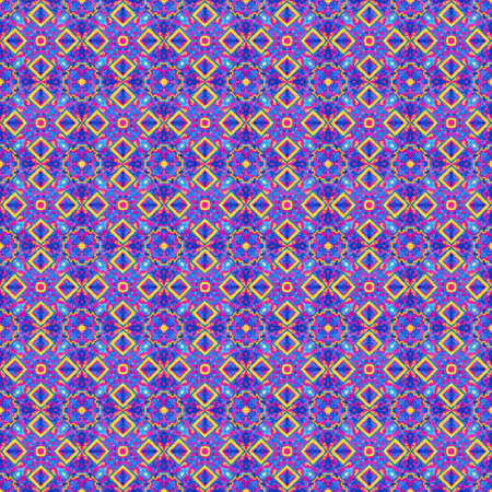 Portuguese azulejo tiles. Watercolor seamless pattern Stock Photo