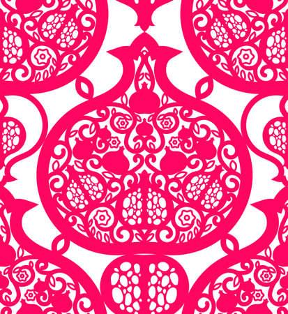 Seamless pattern with pomegranates.